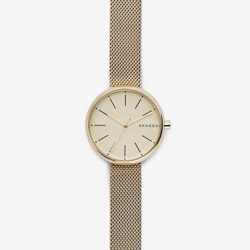 Signatur Gold-Tone Steel-Mesh Watch