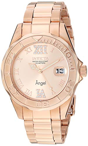 Invicta Women's Angel Analog Swiss-Quartz Rose Gold Watch