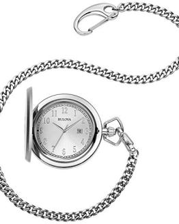 Bulova Men's Stainless Steel Analog-Quartz Pocket Watch