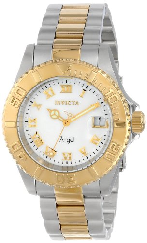 Invicta Women's Angel Analog Display Swiss Quartz Two Tone Watch