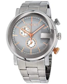 Gucci G Chronograph Silver Dial Stainless Steel Men's Watch