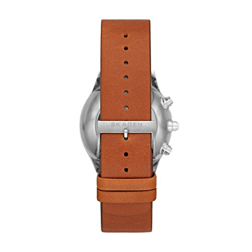 Skagen Connected Men's Holst Titanium and Leather Hybrid Smartwatch The Holst half and half smartwatch brags a range brilliant highlights in the body of a great watch with a lightweight and strong titanium case. By interfacing with your Android™ gadget or iPhone and the SKAGEN application, the watch sends cautious, separated by-you cell phone warnings when you get a content, email or call. It naturally updates to the right time and date, and keeps running on a standard replaceable CR2032 coin-cell battery. Extra highlights include: movement and rest following, telephone discoverer, music control and the sky is the limit from there. This watch is done with a 20mm cowhide tie. Visit our Learn More and FAQs pages for more data.