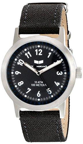 Vestal Unisex Alpha Bravo Canvas Analog Display Quartz Black Watch