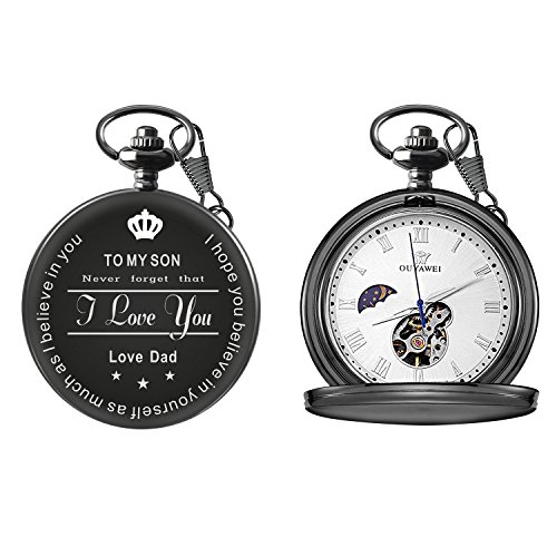To My Son Love Dad Pocket Watch for Son Gifts from Dad