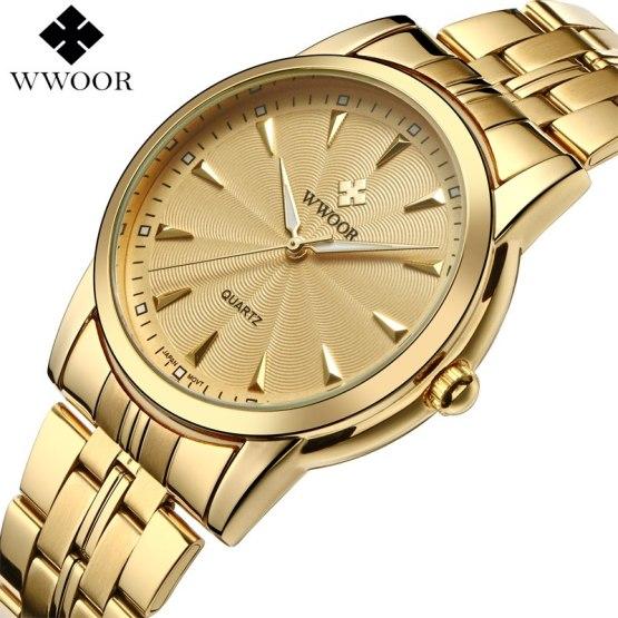 Top Brand Luxury Men Waterproof Stainless Steel Gold Watches
