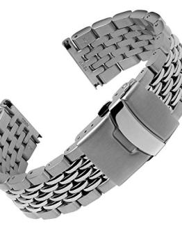 Geckota Beads of Rice Solid 316L Stainless Steel Watch Band