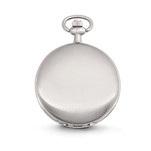 """Speidel Classic Smooth Pocket Watch  CLASSIC FEEL: This pocket watch has a white dial and a silver-tone body. A cutting edge take on a vintage watch, Speidel's pocket watch is certain to bring back great styling.    ENGRAVABLE: Smooth, great structure on the external case to etch and personalize. FEATURES: The watch face has 3-hand development, day, date and 24 hour sub dials, exceedingly cleaned file producers and a 14 inch chain. It has 3ATM water opposition, and utilizations quartz development to operate. PERFECT GIFT: This thing arrives in an uncommon, smooth, dark blessing box. Ideal for Father's day, Birthdays, Anniversary, Valentine's Day and all other holidays. 2 YEAR LIMITED WARRANTY: We realize you are going to cherish your pocket observe however we ensure a 100% discount on the off chance that you are not happy with the items you got inside 30 days and we give year guarantee, If anything isn't right - it would be ideal if you don't hesitate to get in touch with us - we will make it right.   Silver-Tone take watch with a white dial and 12"""" chain. Speidel Classic Smooth Pocket Watch with 14"""" Chain, Silver Tone with White Dial in Gift Box – Engravable"""