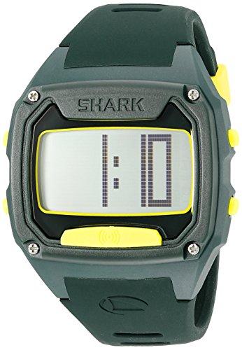 Freestyle Unisex Shark Tooth Digital Display Japanese Quartz Green Watch
