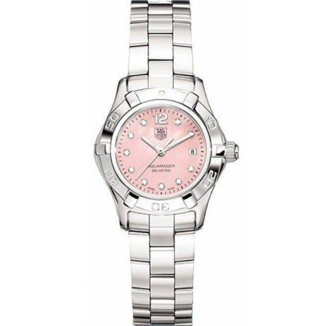 TAG Heuer Women's Aquaracer Diamond Pink Mother-of-Pearl Dial Watch
