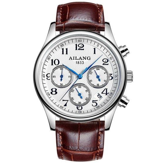 Fashion Style AILANG Men Business Watch Top Brand Luxury Leather