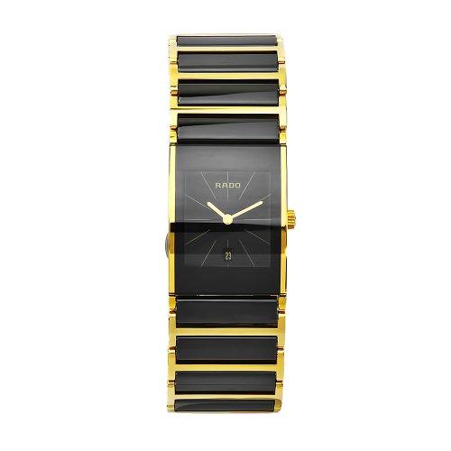 Rado Women's Integral Black Dial Ceramic Bracelet Watch