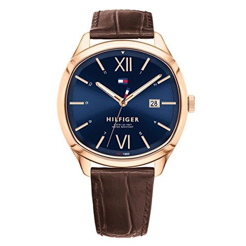 Tommy Hilfiger Clark Blue Dial Leather Strap Unisex Watch