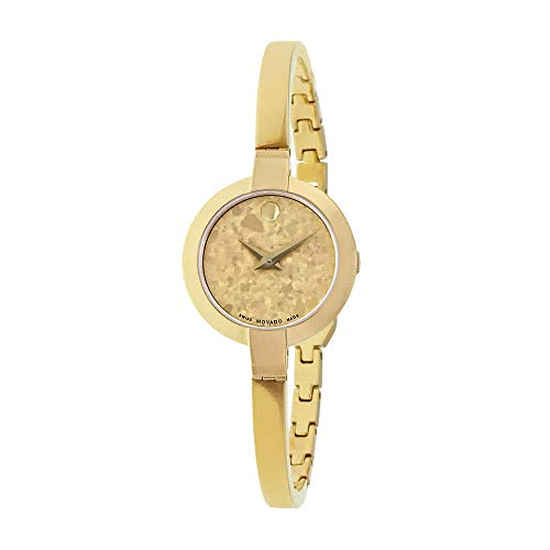 Movado Women's Swiss-Quartz Watch with Gold-Tone-Stainless-Steel Strap