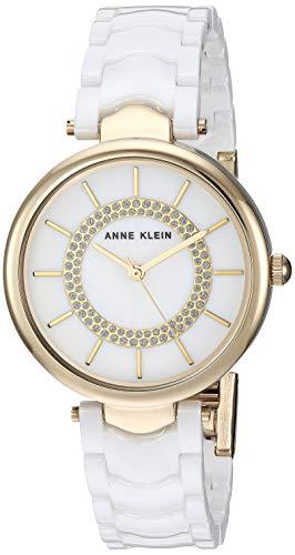 Anne Klein Women's Glitter Accented Gold-Tone Watch
