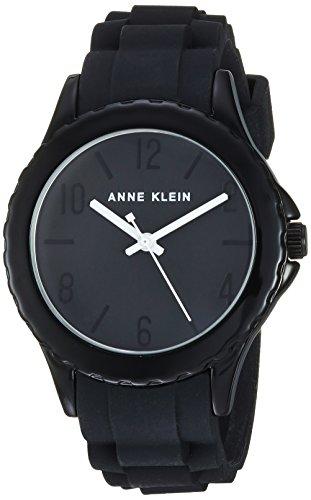 Anne Klein Women's Black Silicone Strap Watch
