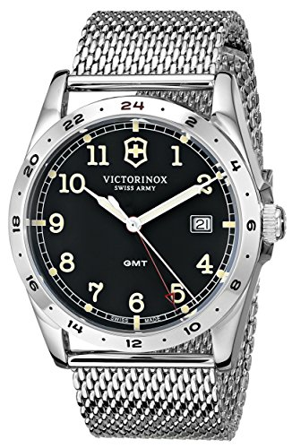 """Victorinox Unisex """"Infantry"""" Stainless Steel Watch with Mesh Bracelet"""
