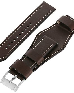 Fossil Leather Calfskin Dark Brown Watch Strap