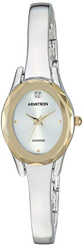 Armitron Women's Diamond-Accented Silver-Tone Bangle Watch