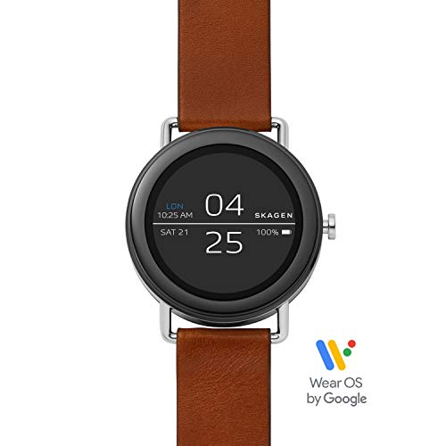 Skagen Connected Falster 1 Stainless Steel and Leather Smartwatch