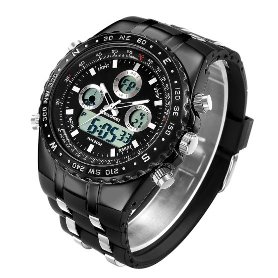 Readeel Mens Watches Top Brand Luxury Waterproof Led Digital Quartz Watch