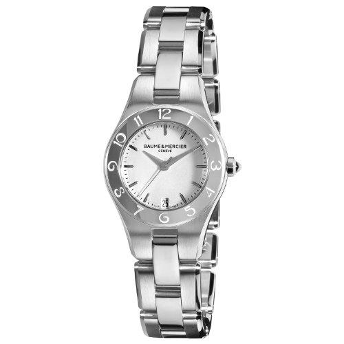 Baume & Mercier Women's Linea Silver Dial Stainless Steel Watch