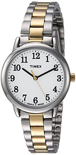 Timex Women's Easy Reader Two-Tone/White Stainless Steel Bracelet Watch