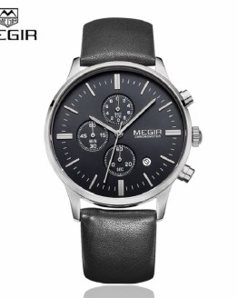 MEGIR Clock Mens Wrist Watches Top Brand Luxury Function Chronograph Watch
