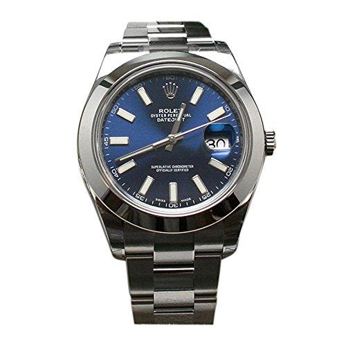 Rolex Datejust II 41 Blue Dial Index Dial Steel Mens Watch