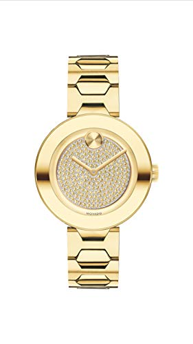 Movado Women's Bold T-Bar LYG Watch with a Flat Dot Crystal Dial