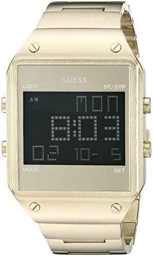 GUESS Men's Trendy Black Stainless Steel Watch