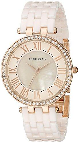 Anne Klein Women's Swarovski Crystal-Accented Rose Gold-Tone Watch