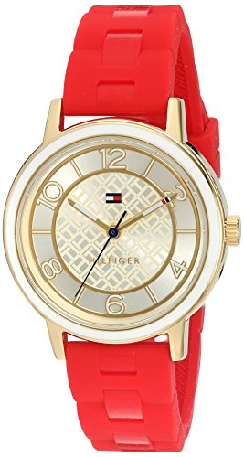 Tommy Hilfiger Women's Quartz Silver and Gold and Silicone Casual Watch