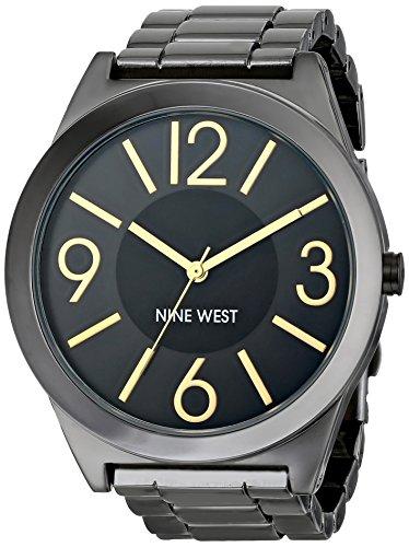 Nine West Women's Gunmetal Bracelet Watch
