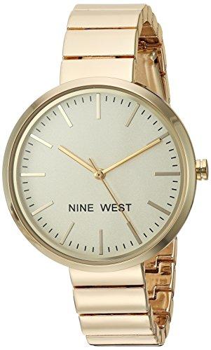 Nine West Women's Gold-Tone Bracelet Watch