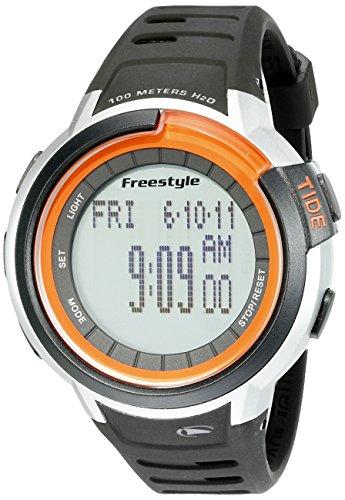 Freestyle Unisex Mariner Tide Digital Display Japanese Quartz Black Watch