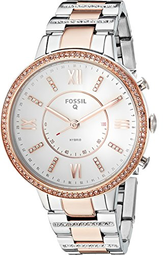 Fossil Q Women's Virginia Two-Tone Stainless Steel Hybrid Smartwatch