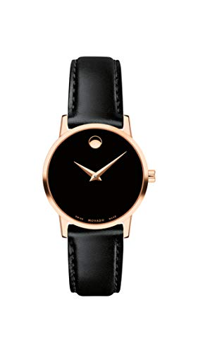 Movado Women's Museum Rose Gold Watch with a Concave Dot Museum Dial