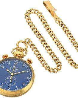 Invicta Men's 'Vintage' Quartz Gold-Tone Pocket Watch