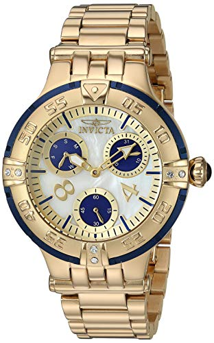 Invicta Women's Subaqua Quartz Stainless-Steel Strap, Gold, 18 Casual Watch
