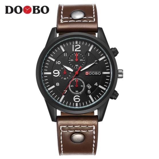 Top Luxury Brand DOOBO Men Sports Watches Men's Quartz Date Watch