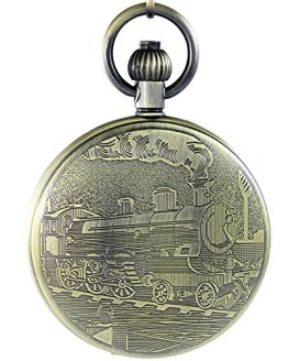 OGLE Waterproof Retro Bronze Mechanical Pocket Watch