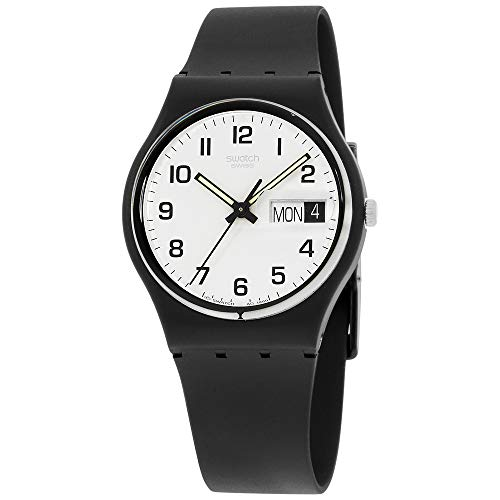 Swatch Women's Once Again Black Plastic Watch