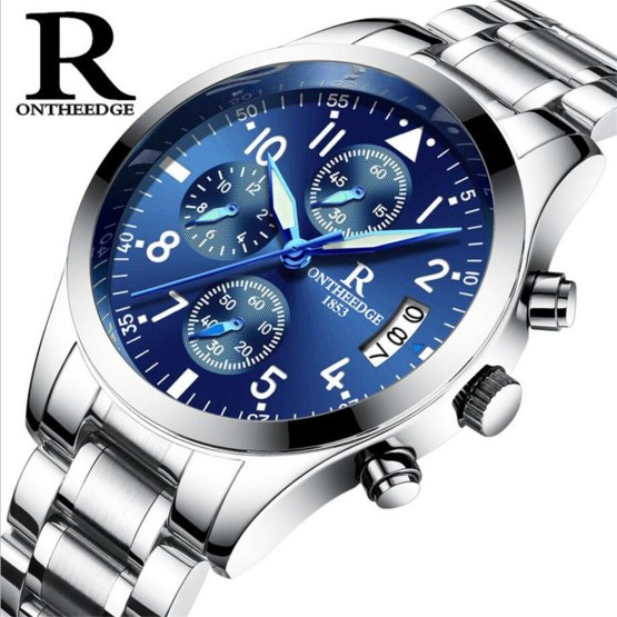 Top Brand Business Quartz Watches Men Stainless Steel Band 30m Waterproof