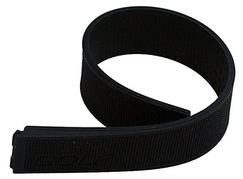 Black Silicone Rubber Watch Band to Fit TAG Heuer Golf