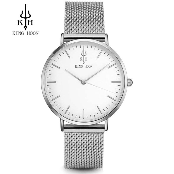 KING HOON Silver Women Watches Luxury High Quality Water Resistant