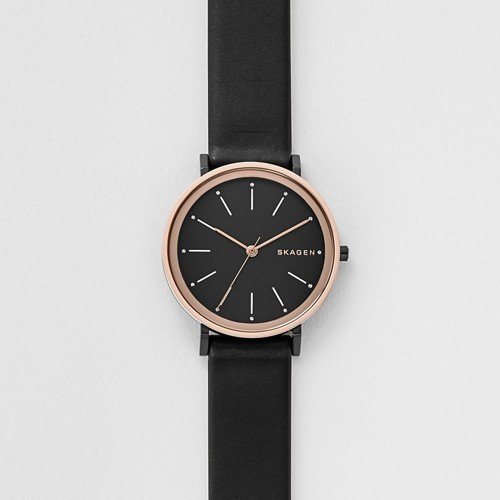 Skagen Women's SKW2490 Hald Black Leather Watch