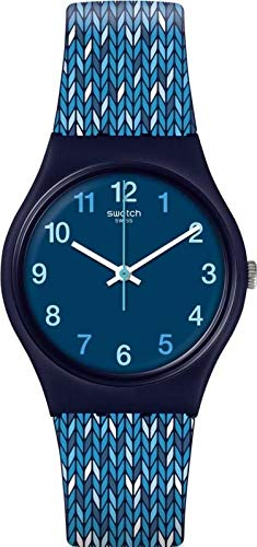 Swatch Trico'Blue Blue Silicone Swiss Quartz Fashion Watch