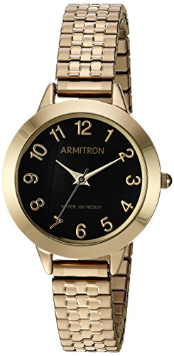 Armitron Women's Easy To Read Dial Gold-Tone Expansion Band Watch