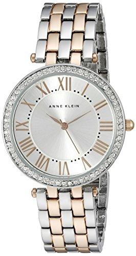 Anne Klein Women's Swarovski Crystal-Accented Two-Tone Bracelet Watch