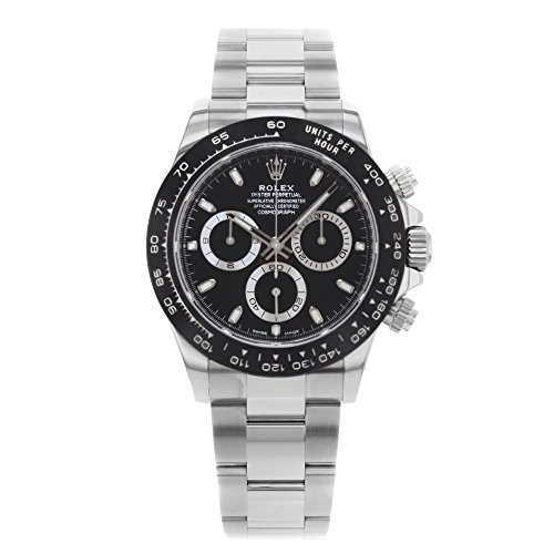 ROLEX Cosmograph Daytona Black Dial Stainless Steel Oyster Men's Watch